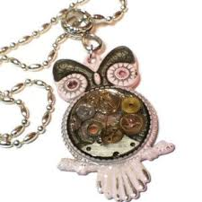 steampunk owl necklace images Shop watch parts necklace on wanelo jpg