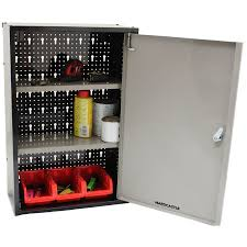 Shelves For Inside Cabinets by Metal Garage Tools Storage Cabinet With Single Door And Shelves