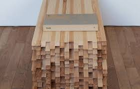 unique side table made of frenzied wooden pieces crac side table