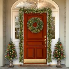 cambridge spruce pre lit wreath with clear lights reviews joss
