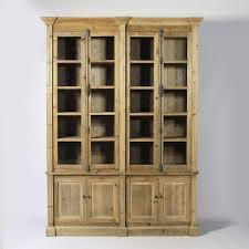 meuble de charme meuble bibliothèque en bois recyclé bibliothèque vitrée