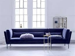 canapé velours bleu bloomingville sur cdc design