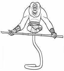 monkey coloring pages kids kung fu panda cartoon coloring