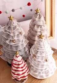 ruffled ribbon diy christmas tree cones for only 99 fynes designs fynes