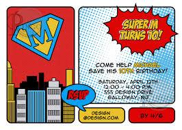 superhero birthday invitations wording free invitations ideas
