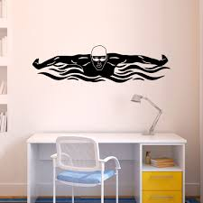 butterfly swimmer removable wall decal swimming decals decorate your space with this removable lulagraphix lacrosse wall decal this decal is easily applied to any dry and smooth surface and is removable