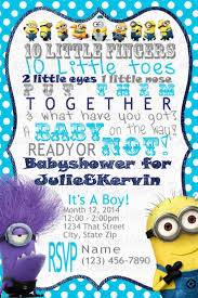 Mod Baby Shower by Minions Baby Shower Invitations Decorating Of Party