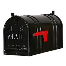 Wall Mount Locking Mailbox Home Depot Salsbury Industries Post Mount Roadside Mailbox 4325blk The Home