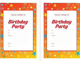 free printable kids birthday party invitations templates new