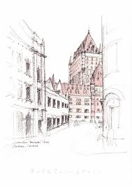 chataeau frontenac hotel quebec canada sketch by joungyeon