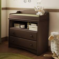 Baby Dressers And Changing Tables Brown Wood Baby Dresser With Changing Table And Rectangle Pad