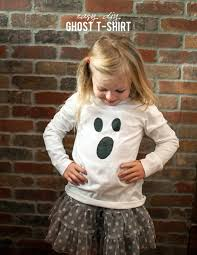 Halloween T Shirts For Girls Alice And Loislast Minute Halloween Ghost T Shirt Tutorial