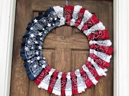 Christmas Tree Wreath Form - patriotic bandana wreath diy passionate penny pincher