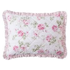 Shabby Chic Com by Garden Rose Quilted Sham Standard Simply Shabby Chic Target