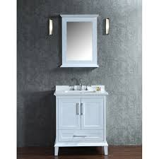 Bathroom Vanities And Mirrors Sets Ariel By Seacliff Nantucket 30 White Single Sink Bathroom Vanity