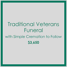 simple cremation traditional veterans funeral with simple cremation to follow