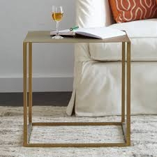 brass iron cube table wisteria