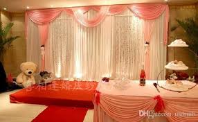 wedding backdrop themes 10ft by 20ft white wedding backdrop with hot pink swag stage