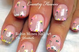 easy nail art for beginners diy spring flower nails design