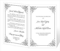 print wedding programs wedding program template 64 free word pdf psd documents
