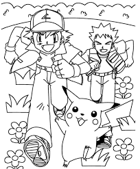 pokemon ash and pikachu coloring pages cartoon coloring pages of