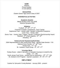 extracurricular resume template college resume templates
