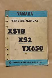 vintage 1972 yamaha xs1 b xs2 tx650 shop repair maintenance