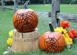 halloween decorations for pumpkins halloween decoration spider web pumpkin how tos diy