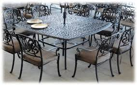 powder coated aluminum outdoor dining table elizabeth cast aluminum powder coated 9pc set with 64 x 64 square