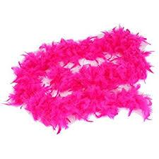 amazon com fuchsia pink feather boa 6ft girls princess tea