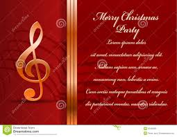 christmas party card stock image image 35425061