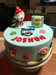 Paw Patrol Cake Decorations Paw Patrol Cake With Marshall Topper Cakecentral Com