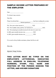 Sample Academic Resume Proof Of Income Letter Sample Bio Example