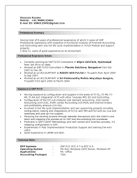 Sap Project Manager Resume Sap Fico Support Resume Resume Ideas