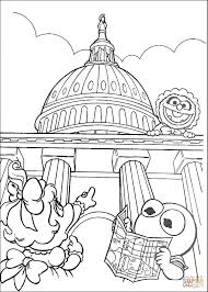 muppet babies in washington d c coloring page free printable