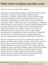 Federal Contract Specialist Resume Logistics Resume Objective Senior Logistic Management Resume