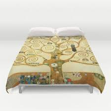 gustav klimt the tree of life duvet cover from society6 duvet