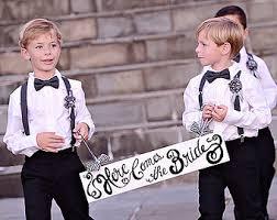 boys suspenders ring bearer attire navy suspenders grey