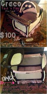 Pink And Brown Graco Pack N Play With Changing Table Graco Pack N Play Play Yard For Sale In Carseats