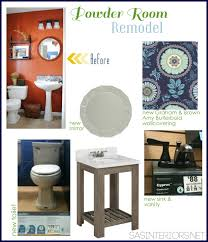 Powder Room 2013 Powder Room Remodel The Plan Of Action Jenna Burger