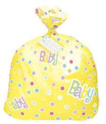 jumbo plastic polka dot baby shower gift bag kitchen