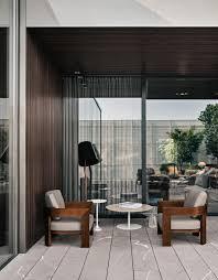 warhol u201cdark brown u201d outdoor garden armchairs from minotti