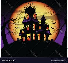halloween haunted house royalty free vector image