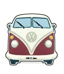 volkswagen van with surfboard clipart vw t1 bus magnet front end red magnets