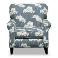 Light Blue Accent Chair Furniture Light Blue Tufted Back Accent Chair With Low Arms On