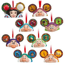 ornament set snow white and the seven dwarfs ear hats