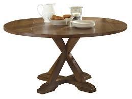 liberty furniture hearthstone drop leaf pedestal table in rustic