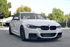 matte white bmw 328i white m performance w black rims bmw f30 black
