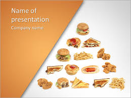 Pyramid Of Fast Food Powerpoint Template Backgrounds Id 0000004224 Fast Food Ppt