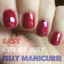 easy 4th of july jelly manicure the feminine files
